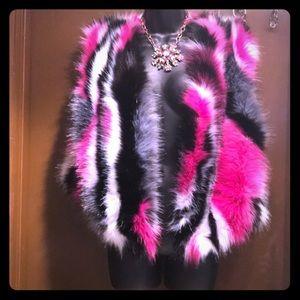 Jackets & Blazers - Foxy faux colorful vest